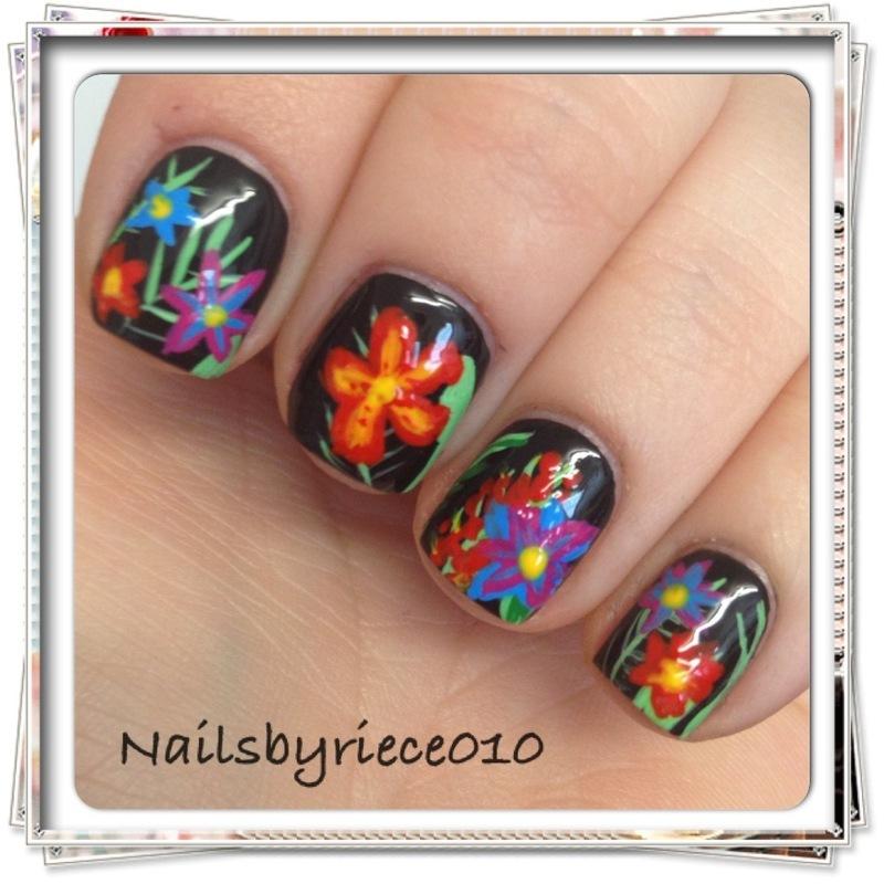 Flower Garden nail art by Riece