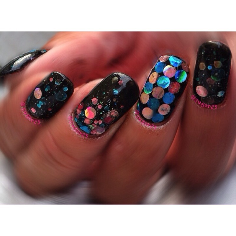 My Loaded Lacquer Custom  nail art by Genevieve  Clay-Poor