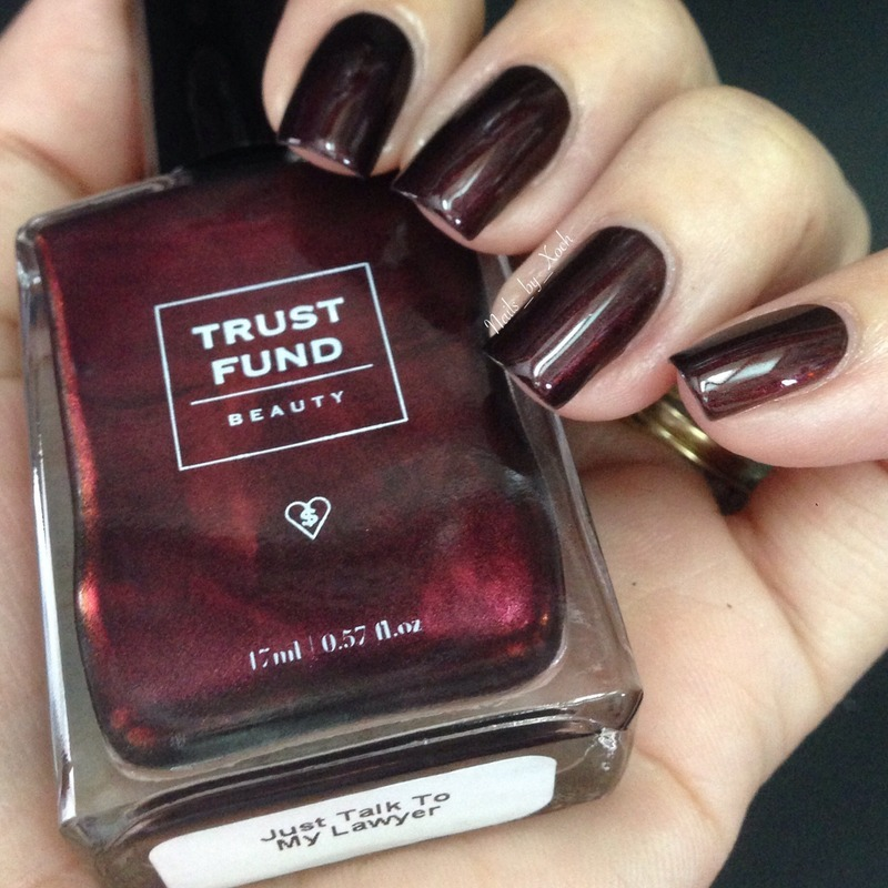 Trust Funds Beauty Just Talk To My Lawyer Swatch by Xochilt