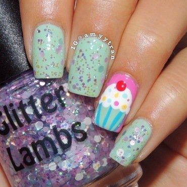 Cupcake nail! nail art by Amy
