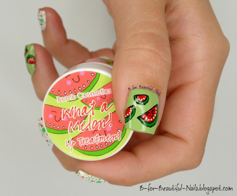 What a Melon! nail art by B.
