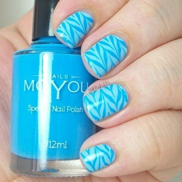 Blue on blue nail stamping1 thumb370f