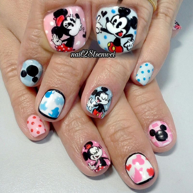 Old style mickey minnie nail art by weiwei nailpolis museum of old style mickey minnie nail art by weiwei prinsesfo Image collections