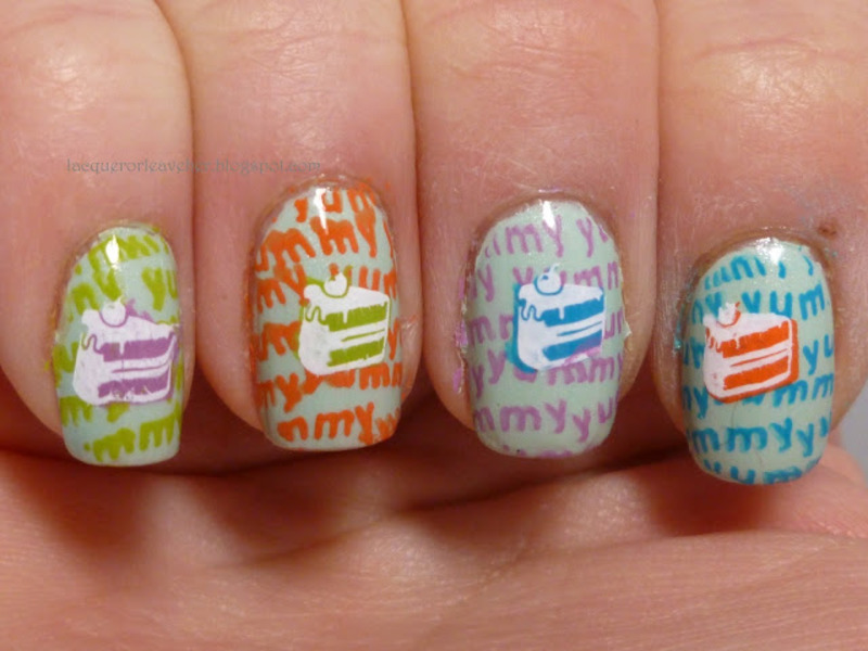 Cake Pop Art nail art by Lacquer or Leave Her! Michelle Chouinard