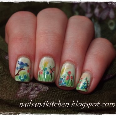 Oh, Spring it's you  nail art by Eliza
