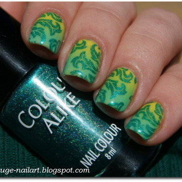 Spring = Green! nail art by RedRouge