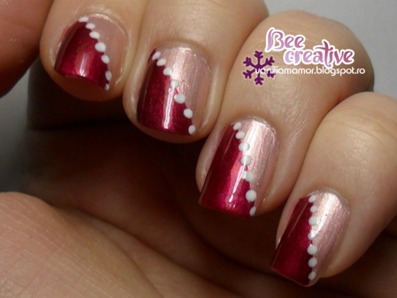 Pink Burgundy Nails Nail Art By Isabella Nailpolis