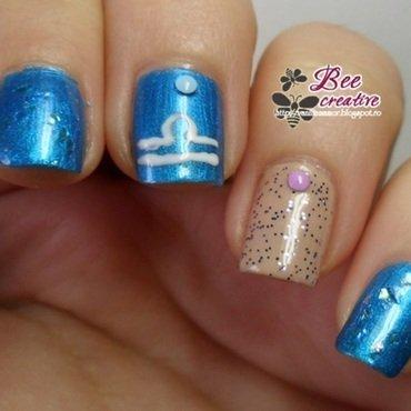 Zodiac - Libra nail art by Isabella