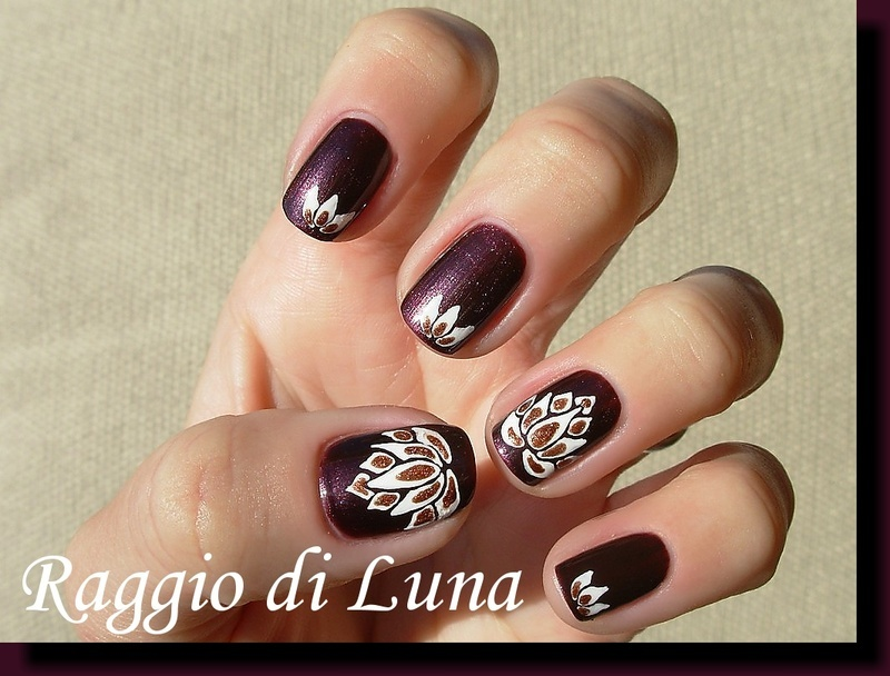 Lotus nail art by Tanja