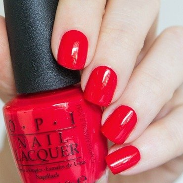 OPI Coca-cola Red Swatch by Temperani Nails