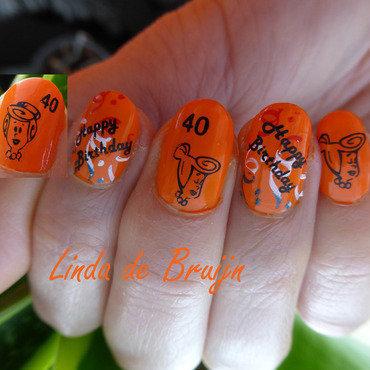 Birthday Wilma nail art by Linda de Bruijn