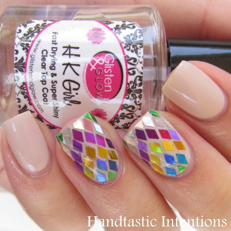 Glitter Chevrons nail art by Andrea