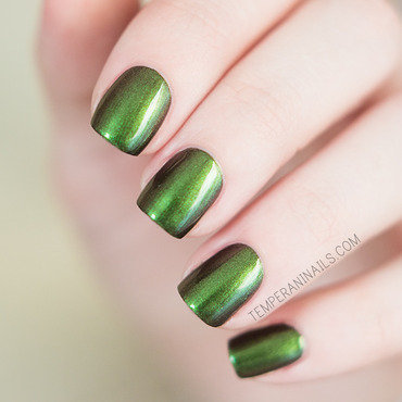 OPI Green On The Runway Swatch by Temperani Nails