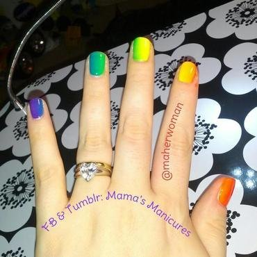 Pride Month Gradient nail art by Mama's Manicures (maherwoman)