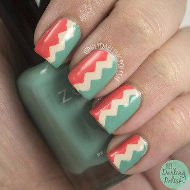 Zig Zags nail art by Marisa  Cavanaugh