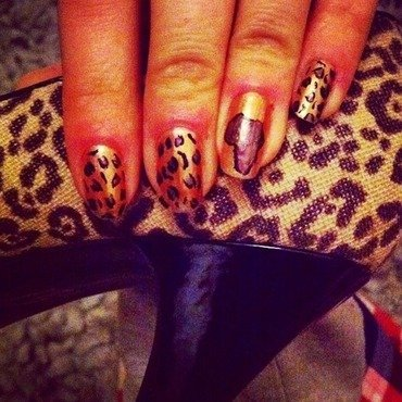 African leopards nail art by Charlotte Speller