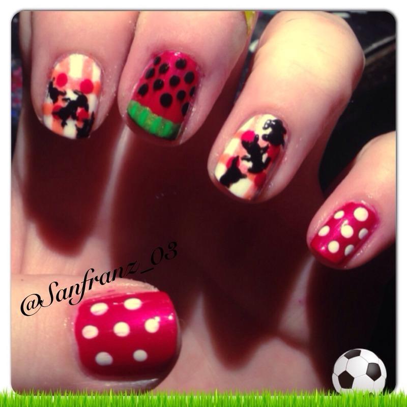 Picnic nails! nail art by Sandy