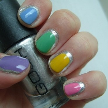 Summer Silver Skittle nail art by Lina-Elvira