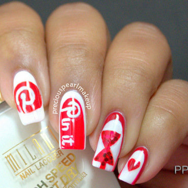 Pinterest Inspired Nails nail art by Pearl P.