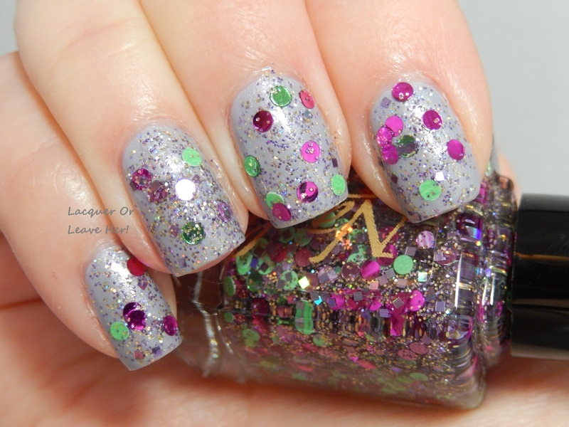 Nayll Vineyard (my creation) and Julep Joanna Swatch by Lacquer or Leave Her! Michelle Chouinard