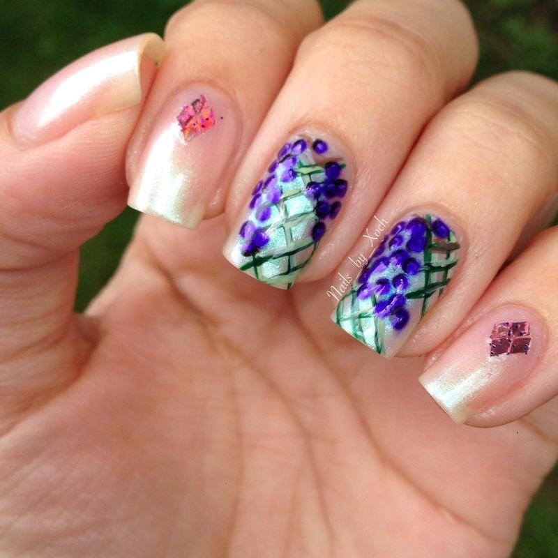 Grape vines nail art by Xochilt