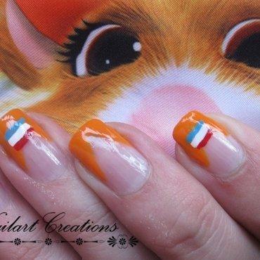 Worldcup Soccer Dutch Nailart nail art by Nailart Creations