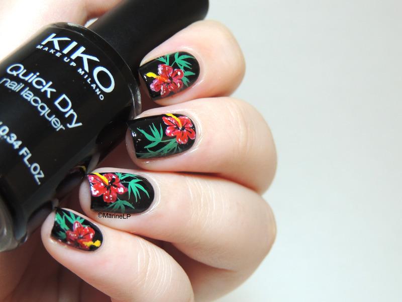 Maroon 5 Maps inspired manicure nail art by Marine Loves Polish