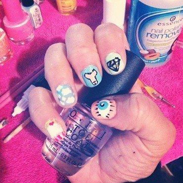 mix !  nail art by CynSweet