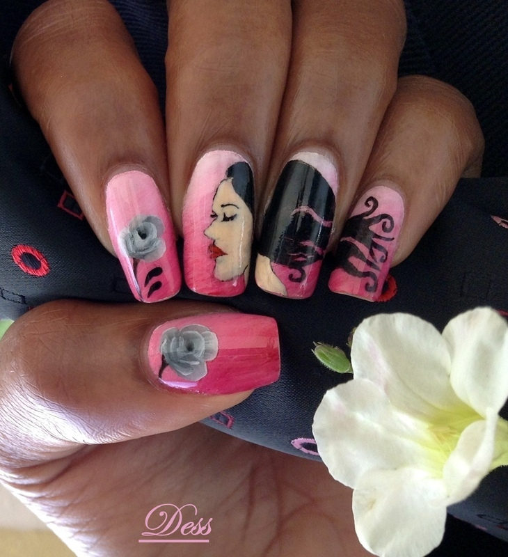 Smell the roses  nail art by Dess_sure
