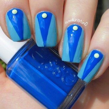 Bright Blue  nail art by Ann-Kristin