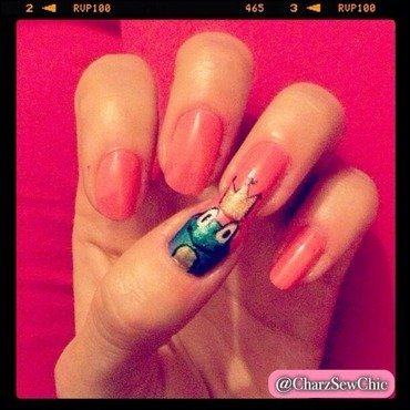 Prince Charming - frog nail art by Charlotte Speller