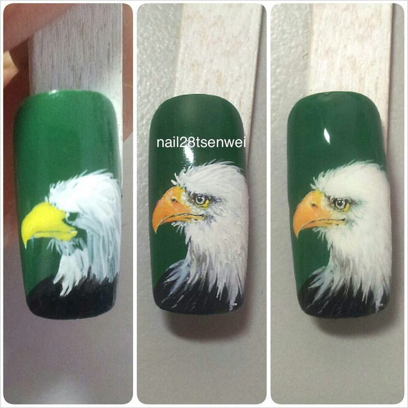 eagle nail art by Weiwei