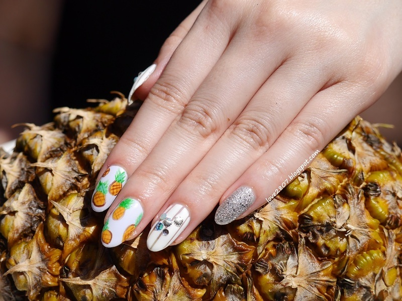 Pineapples nail art by Anhy