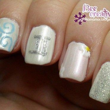 Zodiac - Gemini nail art by Isabella