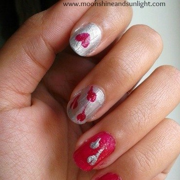 Spolied hearts  nail art by Priyanjana Roy
