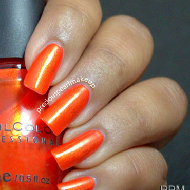 Sinful Colors Courtney Orange Swatch by Pearl P.