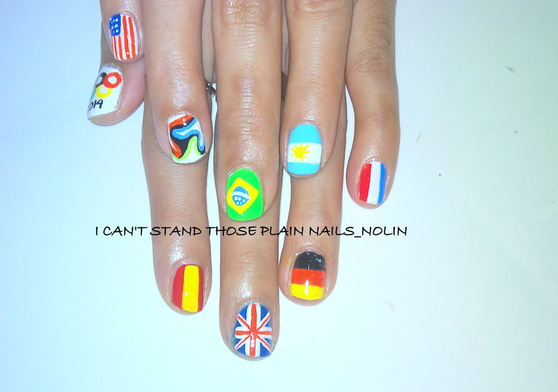 World Cup Nails  nail art by Arnolin Modokh