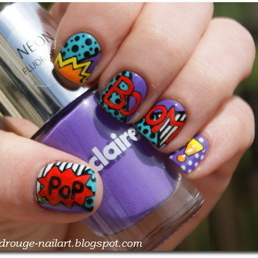 Pop Art nail art by RedRouge