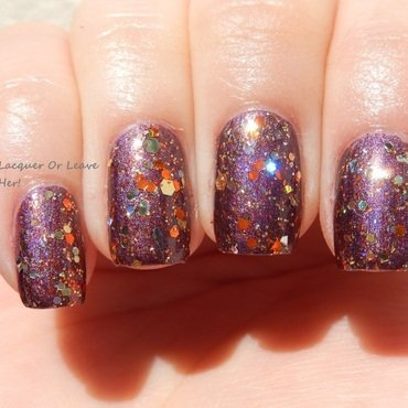 China Glaze When Stars Collide and Nayll Precious (my creation) Swatch by Lacquer or Leave Her! Michelle Chouinard