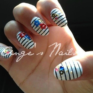 Black on White nail art by Anges_Nails