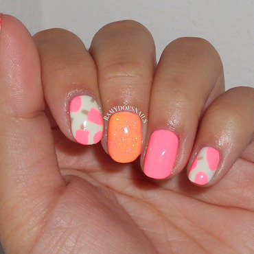 Sun-kissed skin so hot we'll melt your popsicle nail art by Ramy Ang