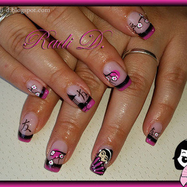 China Town nail art by Radi Dimitrova