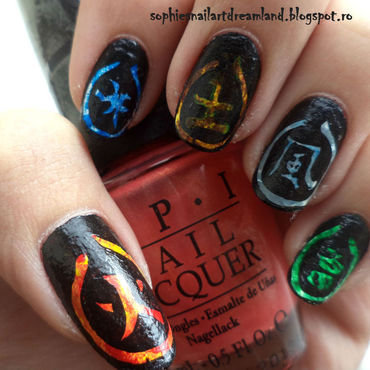 Elements nail art by Sophie