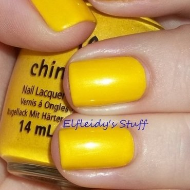 China Glaze Sunshine Pop Swatch by Jenette Maitland-Tomblin