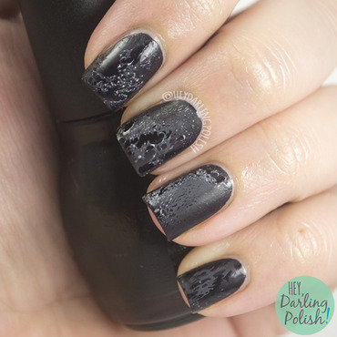 Matte Waterspotting  nail art by Marisa  Cavanaugh