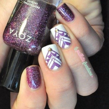 purple beauty nail art by nathalie lapaillettefrondeuse