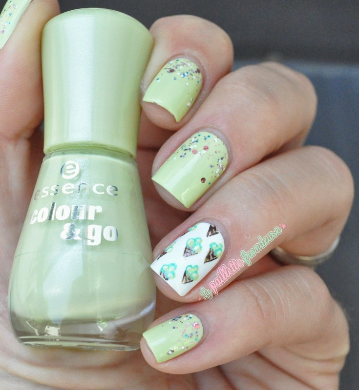ice cream nails nail art by nathalie lapaillettefrondeuse
