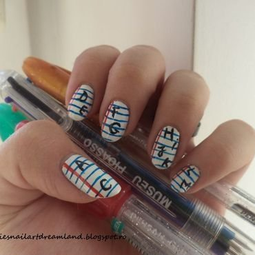 Alphabet nail art by Sophie