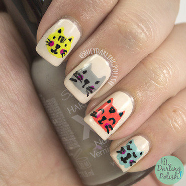 Theme buffet cat cartoon nail art 2 thumb370f