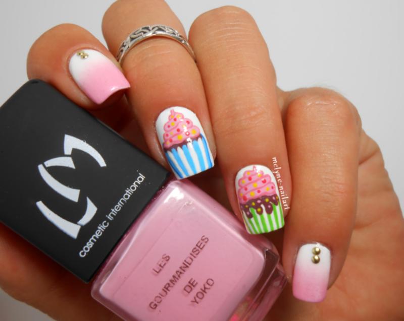 cupcake nails nail art by melyne nailart